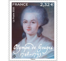 Timbre - Olympe de Gouges  - Lettre Prioritaire