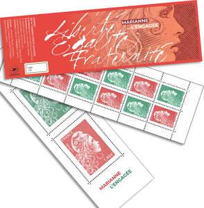 Carnet de 14 timbres Marianne l'engagée - Salon d'Automne - 14 timbres gommés
