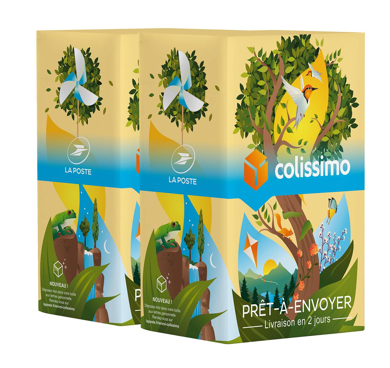 Colissimo Prêt-à-Envoyer France - Boîte de taille L - 5 kg - Edition limitée : Nature