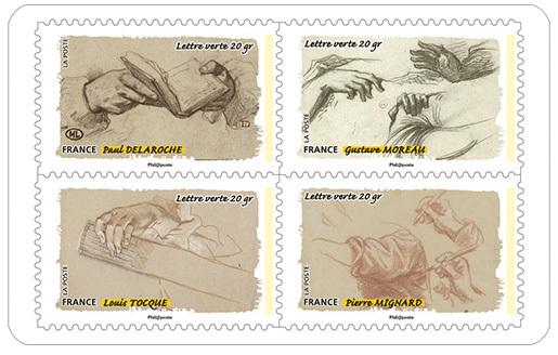 carnet le toucher les gestes de la main 12 timbres autocollants boutique particuliers la. Black Bedroom Furniture Sets. Home Design Ideas