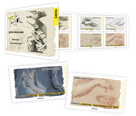 Carnet le toucher les gestes de la main beaux timbres envoi simple - Poste suivi courrier demenagement ...