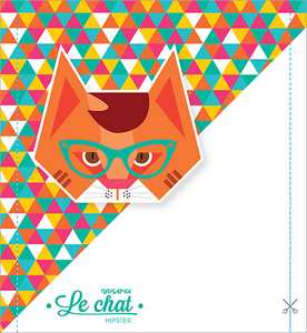 Agrandir l'image : Origamix - Le Chat Hipster