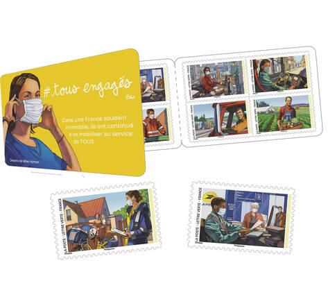 Carnet 12 timbres - Tous engagés - Lettre Verte