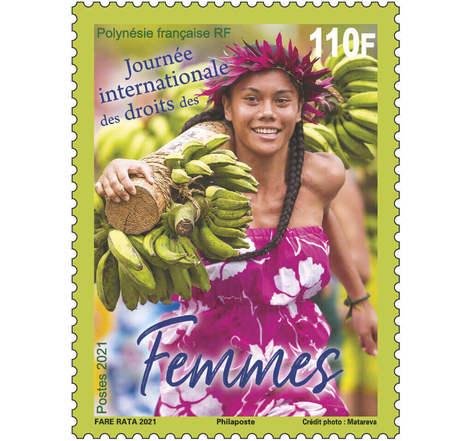Timbre Polynésie Française - Journée internationale des droits des Femmes - 2021