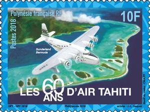 Polynésie Française - 60 ans Air Tahiti - 10F