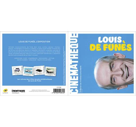 Collector de 4 timbres - Louis de Funès - Lettre Prioritaire