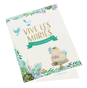 Agrandir l'image : Collector 10 timbres - Mariage - Oui ! - Lettre Verte