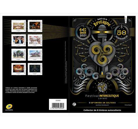 Collector 8 timbres - Festival Interceltique de Lorient - Lettre Verte