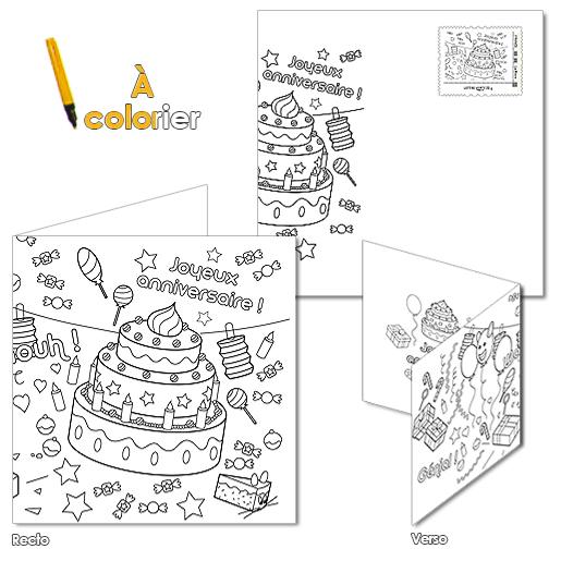 Carte Anniversaire A Colorier Boutique Particuliers La
