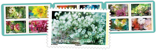 Carnet - Eclosion - 12 timbres autocollants