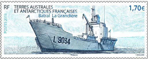 """Résultat de recherche d'images pour """"timbre Batral La Grandière terres Australes"""""""