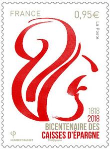 Timbre - Bicentenaire des caisses d'épargne