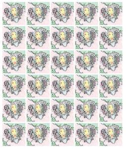 Feuille de 30 timbres Coeur - Balmain - 100g