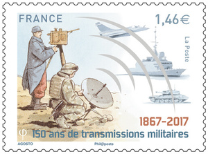 Agrandir l'image : Timbre - Transmissions militaires