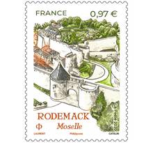 Timbre - Rodemack Moselle - Lettre verte
