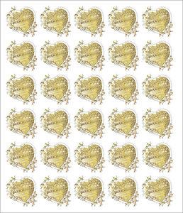 Feuille de 30 timbres Cœur - Boucheron - 20g