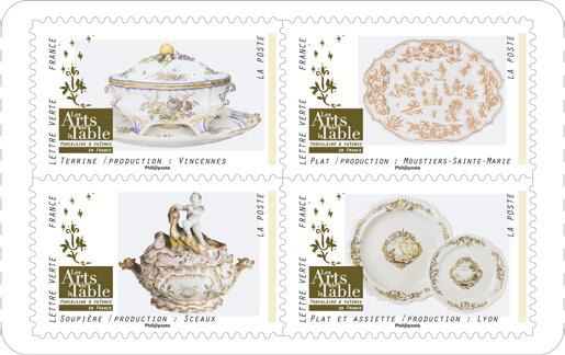 carnet arts de la table 12 timbres autocollants boutique particuliers la poste. Black Bedroom Furniture Sets. Home Design Ideas