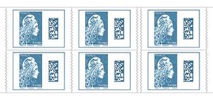 Carnet de 6 timbres Marianne l'engagée - Europe
