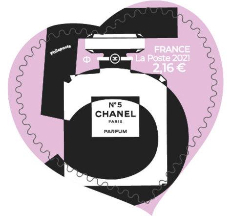 Timbre cœur - Chanel - Lettre verte - 100g