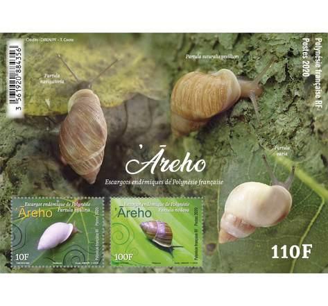 Polynésie Française - Bloc Escargot endémique - Areho