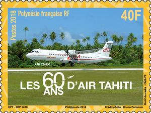 Polynésie Française - 60 ans Air Tahiti - 40F