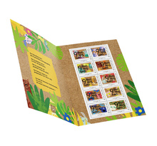Collector 10 timbres - Naissance - 9 mois plus tard - Lettre Verte
