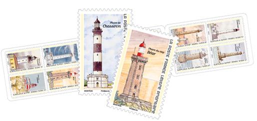Carnet - Repères de nos côtes - 12 timbres autocollants