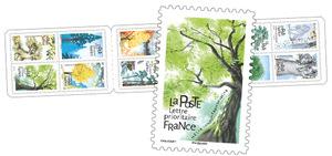 Carnet - Arbres - 12 timbres autocollants