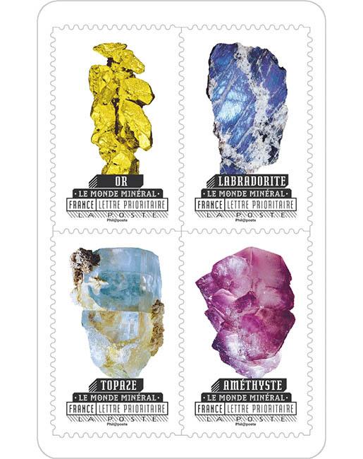 Carnet - Le monde minéral - 12 timbres autocollants | Boutique ...