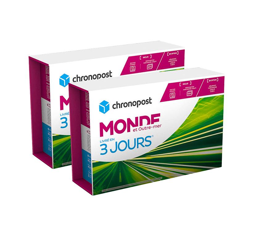Boîte Chronopost - 5 kg - Monde et Outremer - 2019