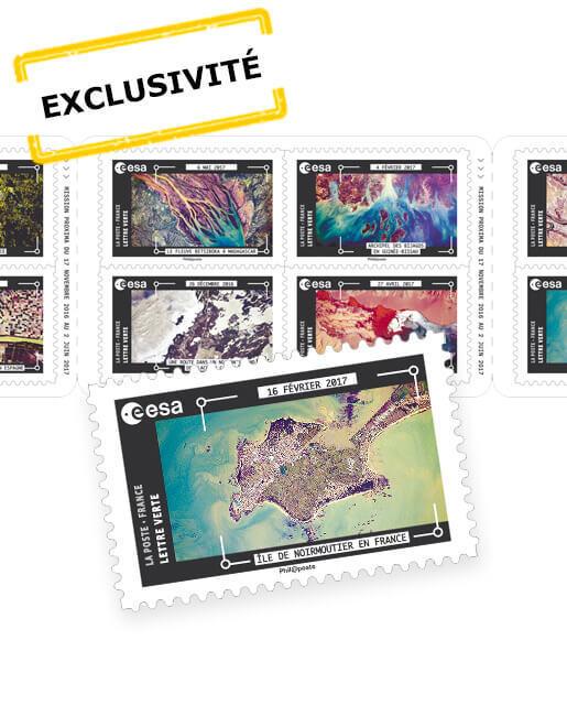 Carnet - Thomas Pesquet - La Terre vue de la Station Spatiale Internationale - 12 timbres autocollants