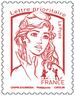 Timbre Marianne et la jeunesse - Rouge