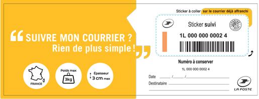 Sticker suivi a l 39 unit boutique particuliers la poste for Suivi courrier demenagement la poste