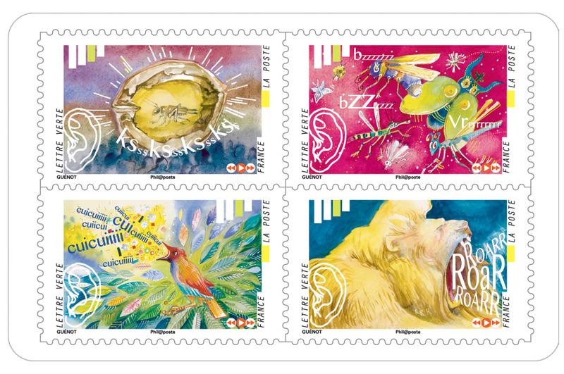 carnet l 39 ouie 12 timbres autocollants boutique particuliers la poste. Black Bedroom Furniture Sets. Home Design Ideas
