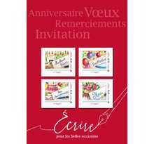 Collector 4 timbres - Beaujard - Lettre Verte