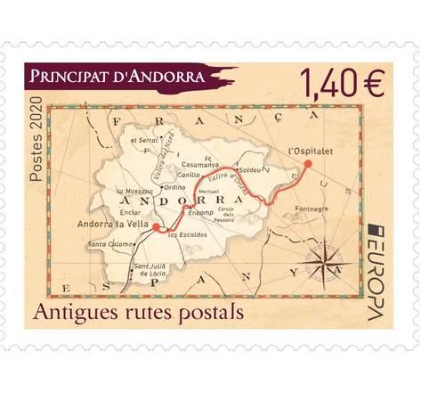 Andorre - Europa Antigues rutes postals