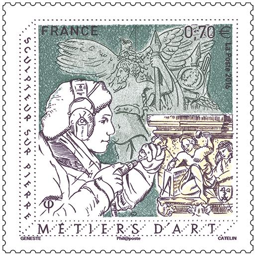 Timbre - Métiers d\'Art - Sculpteur sur pierre | Boutique ...