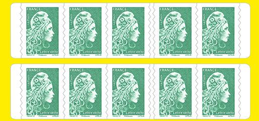 Carnet de 10 timbres Marianne l'engagée - Vert