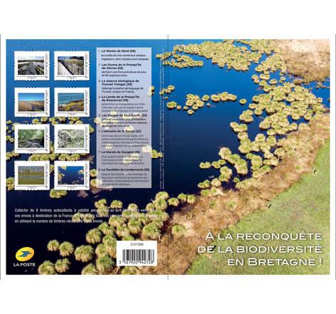 Collector 8 timbres - A la reconquête de la biodiversité en Bretagne - Lettre Verte