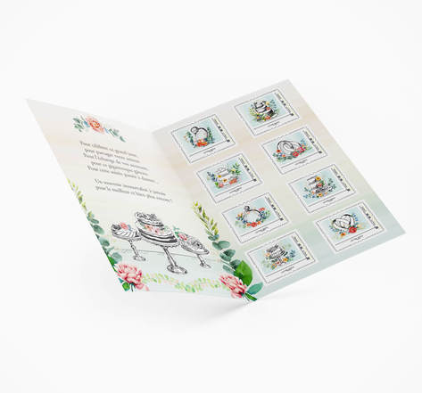 Collector 8 timbres - Mariage - Lettre Verte