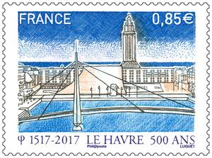 Timbre - 500 ans de la fondation du Havre