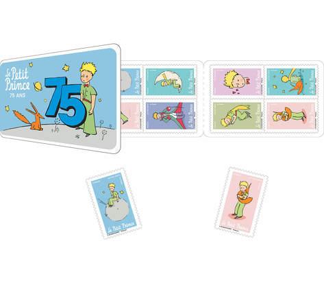 Carnet 12 timbres - 75 ans du Petit Prince - Lettre verte