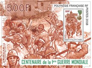 Polynésie Française - Bloc Centenaire 1ère Guerre Mondiale