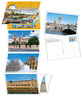 Lot de 6 cartes postales timbrées - Ponts de Paris - Monde