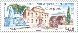 Timbre - Salon Philatélique de Printemps - Sorgues