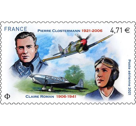 Poste aérienne - Clostermann - Lettre Prioritaire