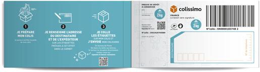 94c4625490fece Carnet de 3 étiquettes prépayées Colissimo 500g