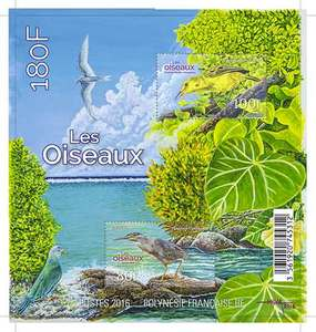 Polynésie Française - Bloc Les Oiseaux