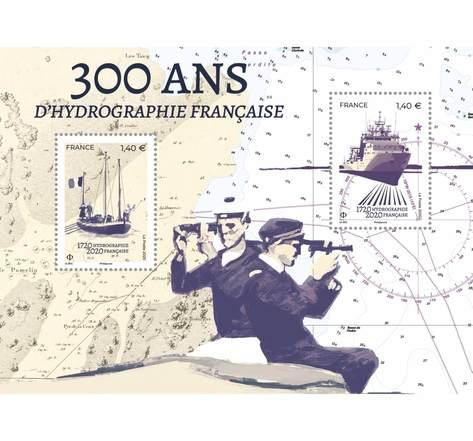 Bloc 2 timbres - Tricentenaire d'Hydrographie française