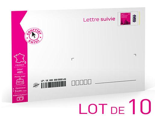 lettre suivie 50g Prêt à Poster   Lettre Suivie   50g   Lot de 10 | Boutique  lettre suivie 50g